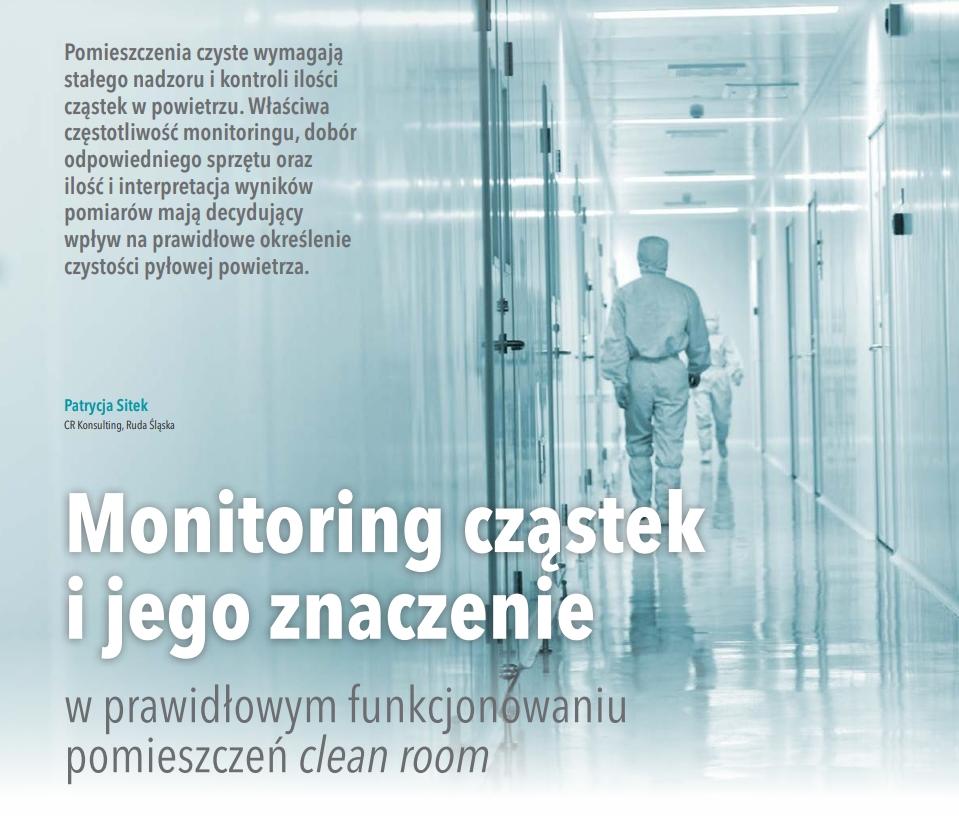 monitoring cząstek w cleanroom