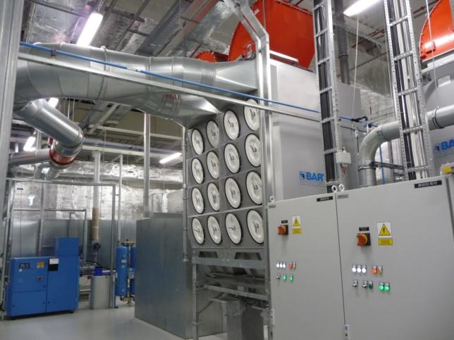 Instalacja odciągania gazów i oparów wybuchowych